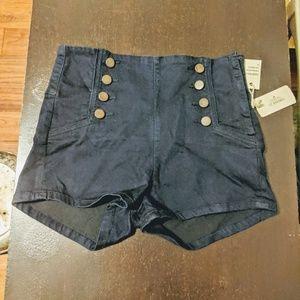 Forever 21 Navy Highwaisted Shorts